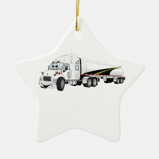 Da estrada desenhos animados brancos do petroleiro enfeites para arvore de natal