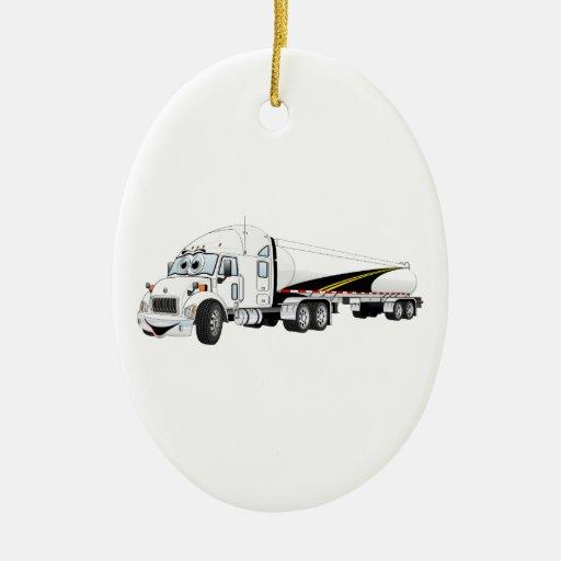 Da estrada desenhos animados brancos do petroleiro ornamentos para arvore de natal