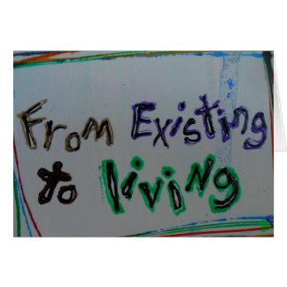 """""""da existência"""" aos cartões de vida da recuperação"""