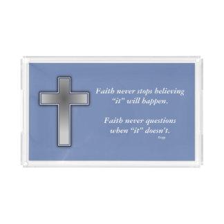 Da fé cruz da bandeja w/Blue da vaidade nunca