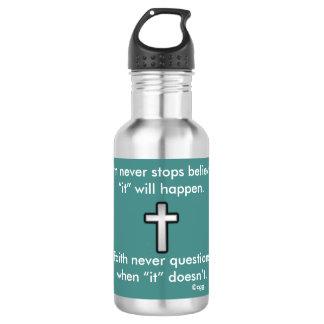 Da fé cruz do esboço da garrafa de água w/Black