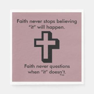 Da fé cruz dos guardanapo w/Shadow nunca