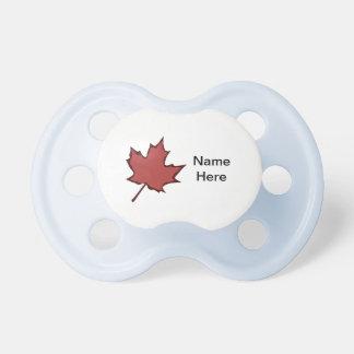 Da folha do nome Pacifier canadense do bebê aqui Chupeta
