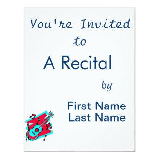 da guitarra do abstrato do scribble cerceta convites personalizado