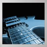Da guitarra elétrica do fim azul acima - posters