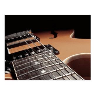 Da guitarra elétrica do fim vintage Brown acima - Cartoes Postais