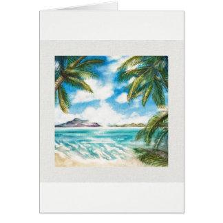 """Da """"ilha eternidade: Cartão da costa da manhã"""" com"""