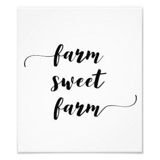 """Da """"impressão da fazenda doce fazenda"""" impressão de foto"""