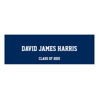 Da inserção escolar branca da graduação do marinho cartões de visita