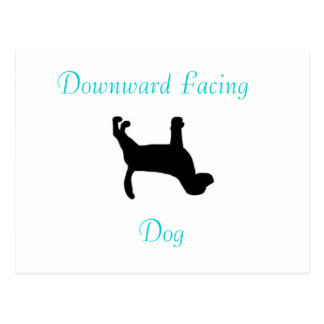Da ioga enfrentar para baixo - o cartão do cão