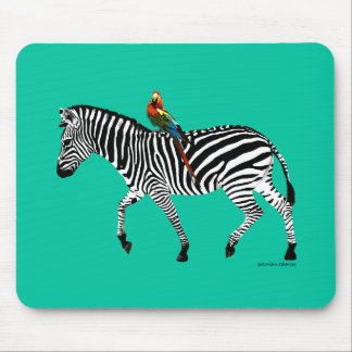 "Da ""jade Mousepad zebra & do papagaio"""