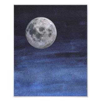 Da lua impressão do céu Nigh Foto