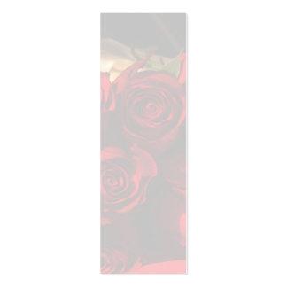 """Da """"marcador do buquê rosa vermelha"""" - cartão de visita skinny"""