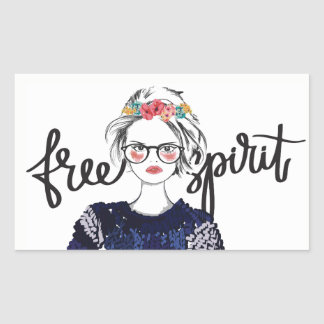 Da moda adolescente da forma do espírito livre adesivo retangular