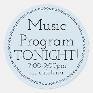 Da música do programa etiquetas hoje à noite