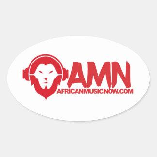 Da música etiqueta africana agora adesivo oval
