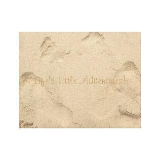 """Da """"o pé das aventuras pequenas vida"""" imprime na impressão em canvas"""