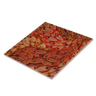 """Da """"pavões água"""" (pintura) azulejo quadrado grande"""