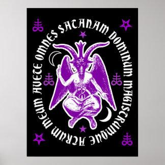 """Da """"poster oculto Latin de Baphomet da satã Pôster"""