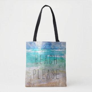 Da praia a bolsa de canvas por favor