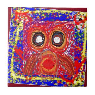 Da rapina artística do pássaro da CORUJA PRESENTES Azulejos De Cerâmica