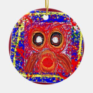 Da rapina artística do pássaro da CORUJA PRESENTES Ornamento De Cerâmica Redondo