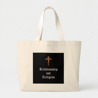 """Da """"religião relação não """" bolsa tote grande"""