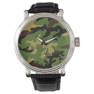 """Da """"relógio do tributo militar camuflagem"""" relógio de pulso"""