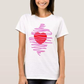 Da ruptura caótica do coração do redemoinho do camiseta