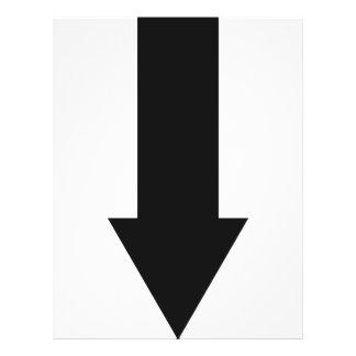 da seta ícone preto para baixo modelos de panfleto