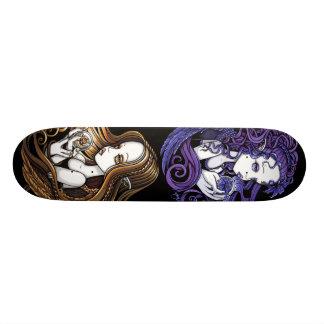 """Da """"skate dos anjos da bola de cristal ametista &  shape de skate 19,7cm"""