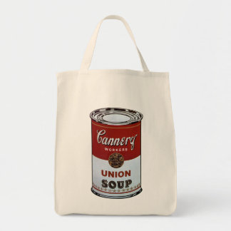 © da sopa da união da fábrica de conservas de bolsa tote