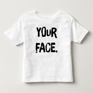 """Da """"T da criança sua cara"""" (branco) Camiseta Infantil"""