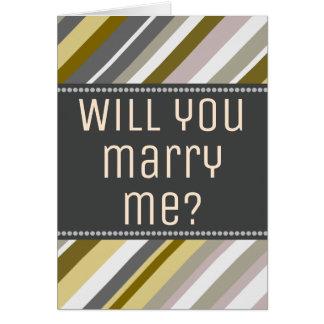 """Da terra, rústico """"você casar-me-á?"""" Cartão"""