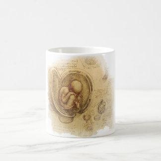 da Vinci - esboço do embrião Caneca