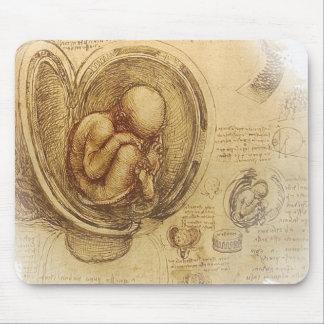 da Vinci - esboço do embrião Mouse Pads