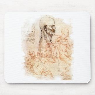 da Vinci -- Esboço do homem e do cavalo Mousepad