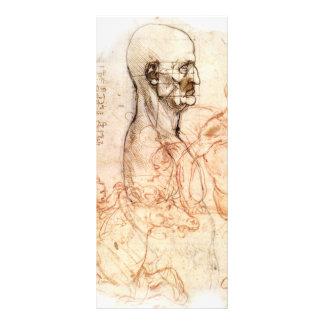 da Vinci -- Esboço do homem e do cavalo Modelo De Panfleto Informativo