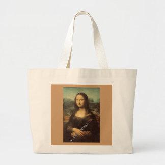 Da Vinci, Mona Lisa com um design do saco de Oboe Sacola Tote Jumbo