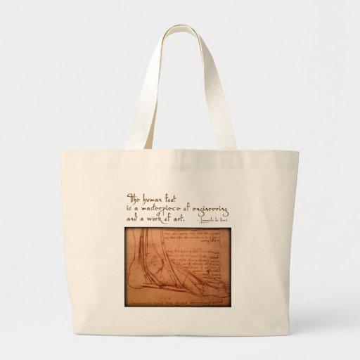 """da Vinci: """"O pé humano é… """" Bolsa De Lona"""