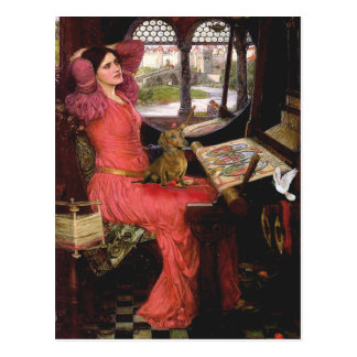 Dachshund 1 - Senhora de Shalotte Cartão Postal