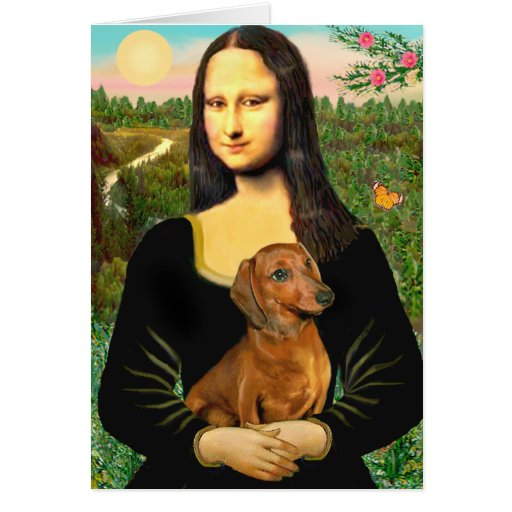 Dachshund (brown1) - Mona Lisa Cartoes