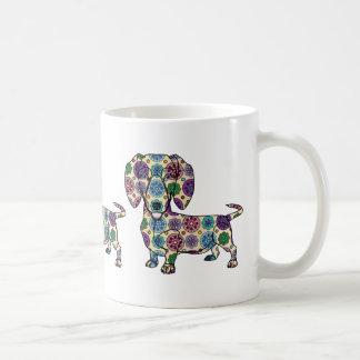 Dachshund - caneca de café colorida