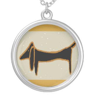 Dachshund, cão de Weiner Colar Com Pendente Redondo