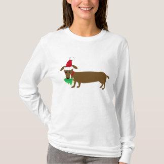 Dachshund do Natal Camiseta