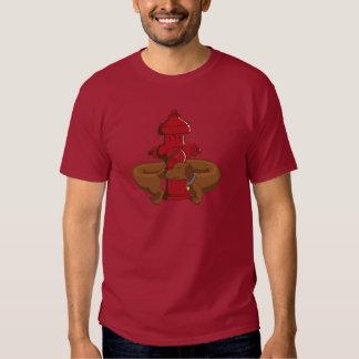 Dachshund engraçado dos desenhos animados tshirts
