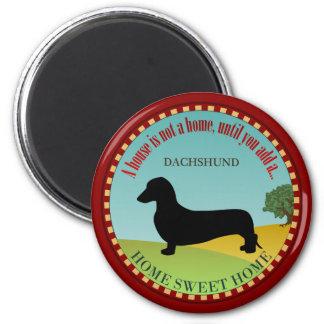 Dachshund [liso] ímã redondo 5.08cm