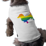 Dachshund/Wiener do orgulho gay Camisa Sem Mangas Para Cachorro