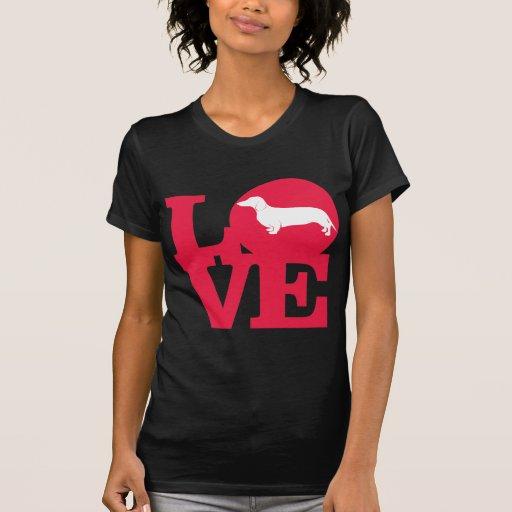 Dachshunds do amor!!! t-shirt