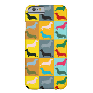 Dachshunds do pop art capa barely there para iPhone 6